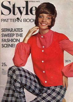 1972 Style Pattern Book Craft Patterns, Vintage Sewing Patterns, Pattern Books, Fashion History, Pattern Fashion, 1970s, Spring Fashion, Your Style, Memories