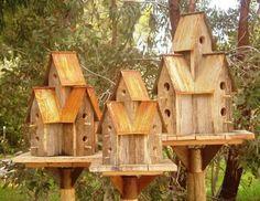 Rusty Condo Birdhouses in Medium, Small & Large