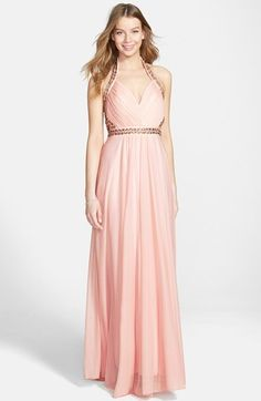 Sequin Hearts Embellished Halter Gown (Juniors) available at #Nordstrom