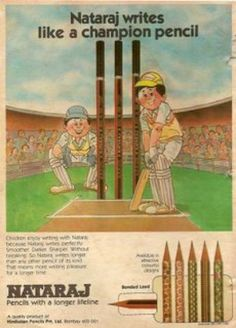 Natraj Old Print Ad. Natraj Pencils ads were always the favourite. Vintage Advertising Posters, Old Advertisements, Vintage Posters, Vintage India, Vintage Ads, Vintage Prints, India Poster, Childhood Memories 90s, Vintage Bollywood