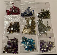 selbstklebende Schmucksteine//Glitzersteine Sterne 6 x 6 mm verschiedene Farben