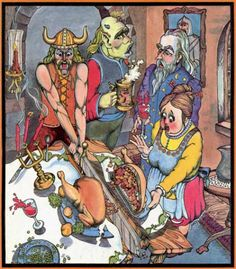 oldschoolfrp: There's one in every family. Happy American Thanksgiving! (Jack Crane, cover of Dragon magazine No. 67, TSR, November 1982.)