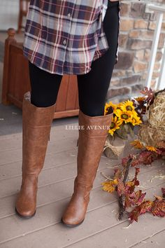 """The perfect fall brown boots. These boots look amazing with any of our leggings and skinny jeans. True to size. Approx measurements. - The heel height is 1"""" - The opening circumference is 17.5"""" - Calf"""