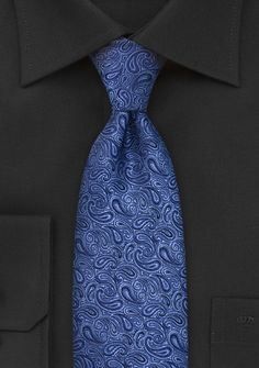Royal Blue Paisley Neck Tie | Bows-N-Ties.com