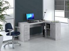 Mesa para Computador/Escrivaninha Espanha 2 Portas - 3 Gavetas - Politorno 117698 com as melhores condições você…