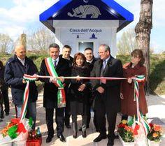 Inaugurazione della Casa dell'Acqua di Cesena in via IV Novembre. #inaugurazione #casadellacqua #cesena