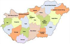 Magyarország megyéi Budapest, Diagram, Map, Education, Location Map, Maps, Onderwijs, Learning