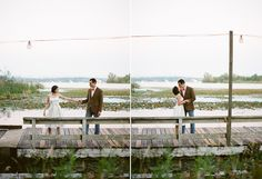 Dreamy Engagement Photos on a Row Boat