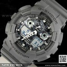 Casio G-Shock Camouflage Gray Analog Digital Display Watch GA-100CF-8A 5434e3ee60