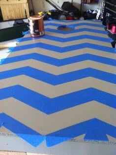 DIY Cornhole Boards - chevron