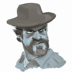 Corey Smith: Chief Hopper from Stranger Things for Sketch Dailies