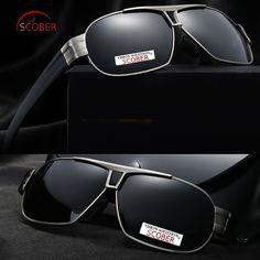 56ab89bfb8 SCOBER   Men HD Back Coated Polarized Sunglasses Double Bridge Tr90 Leg  Delicate Hinge Tac