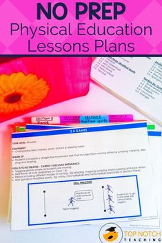 Quickly and easily plan your physical education lessons and PE activities with these NO PREP Physical Education Lesson Plans. This resource includes 35 PE lesson plans and activities that will last the entire school year. Each lesson is on a separate card which makes it easy to grab and go! Perfect for taking to the gym, the field, the court, or the classroom. Each lesson includes ideas for warm-up activities, skill practice, and games. Teaching 5th Grade, 3rd Grade Classroom, Teaching Kindergarten, Physical Education Lesson Plans, Pe Lesson Plans, Pe Activities, Writing Activities, Teaching Strategies, Teaching Tips
