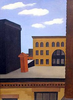 Greenwich Village Rooftops by George Ault