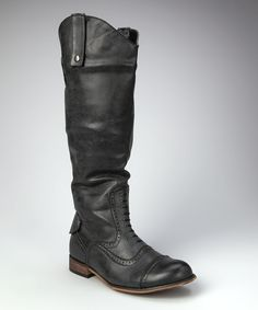 Take a look at this Jacobies Footwear Black Oxford Rider Boot on zulily today!