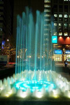 Cheonggyecheon Plaza water fountain Seoul