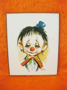 Dianne Dengel sad clown.