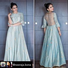 Rakul Preet in Drama Queen and Shubhashini Ornaments for Rarandoi Veduka Chudam promotions. Indian Attire, Indian Ethnic Wear, Indian Outfits, Ethnic Outfits, Indian Style, Gown Pattern, Dress Patterns, Indian Designer Outfits, Designer Dresses