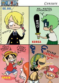 OP-Censure- by vtophya on DeviantArt One Piece Meme, One Piece Comic, One Piece Fr, One Piece Funny, Anime One Piece, One Piece Fanart, 0ne Piece, Single Piece, Naruto Funny