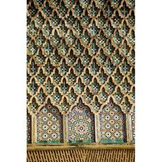 Meknes Morocco Tilework on the Bab Mansour Gate Canvas Art - Charles O Cecil DanitaDelimont (24 x 36)