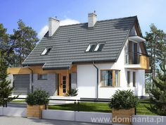 Projekt domu Miki II - wizualizacja 1