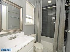 We love the updated modern bath in this great starter home on 1921 Deerfield Drive in Bensalem Modern Baths, Starter Home, Alcove, Bathtub, Standing Bath, Bathtubs, Bath Tube, Bath Tub, Tub