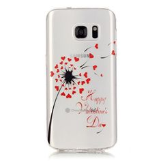PowerQ Colorful Pattern Series Painting Print TPU Case < Transparent-Heart dandelion - for Huawei Ascend P9Lite > Drawing Soft Silicone Cover Cellphone Case mobile Cover Soft Protect Skin