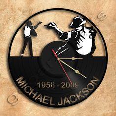 Pared reloj Michael Jackson vinilo registro reloj por geoartcrafts