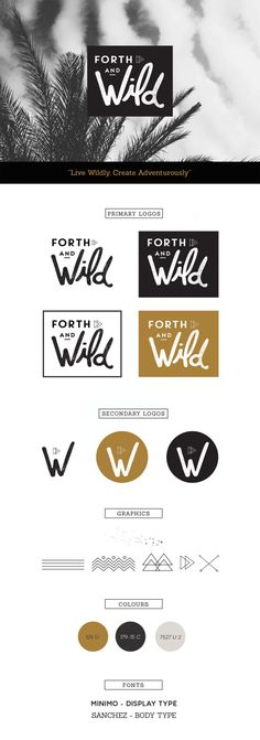 I love this. I think you did such a wonderful job with your logo. I love the WILD font.. and the simple black and white