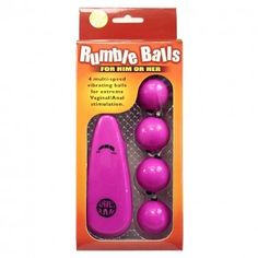 Anal Balls for Men and women, Each ball is vibrating There are 4  multi speed  Vibrating Balls for extreme Vaginal and Anal stimulation. These are the best Ruble Balls