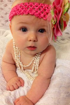 Pearls and baby photo!!!! not enough words to say how cute this is!!