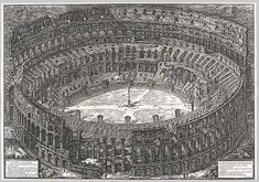 Veduta dell'Anfiteatro Flavio detto il Colosseo (View of the Flavian Amphitheater known as the Colosseum): From Vedute di Roma (Views of Rome), 1776  Giovanni Battista Piranesi