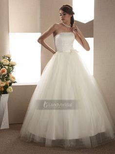 Aライン  ウエディングドレス  シンプル  上半身にビーズいっぱい  H200ld1112