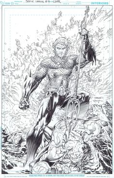 JL #4 cover by Jim Lee and Scott Williams Comic Art