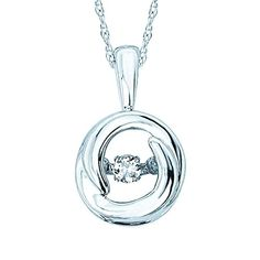 Brilliance in Motion ct. Diamond Circle Pendant Necklace in Sterling Silver Alexandrite Jewelry, Larimar Jewelry, Amethyst Jewelry, Fish Hook Necklace, Circle Pendant Necklace, Collar Necklace, Valentines Jewelry, Sterling Silver Necklaces, Jewels