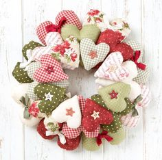 Image result for hand sewn christmas wreath