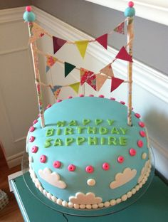 Bunting birthday cake! - COOKING