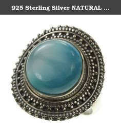 925 Sterling Silver NATURAL LARIMAR Ring, Size 7.75. BeadsTreasury Product Description BeadsTreasury provides our customer with high quality handcrafted jewerly in affordable price. Most of our jewelry are handcrafted, thus every pieces of jewelry is UNIQUE. This 14MM NATURAL LARIMAR gemstone is crafted in 925 Sterling Silver Ring. Its weight is 8.40g. What is 925 Sterling Silver? 925 Sterling Silver jewelry is composed with 92.5 percent silver and 7.5 percent copper. It is found to be…