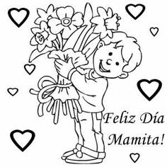 7 Mejores Imágenes De Gabriel Coloring Pages Mothers Day Drawings