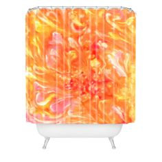 Rosie Brown Falling Petals Shower Curtain | DENY Designs Home Accessories#shower #curtain #bathroom #homedecor #art #abstract #denydesigns