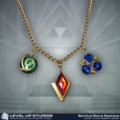Yet another spiritual stones (from Zelda Ocarina of Time) necklaces ($39)