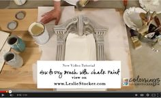 In this video, I'll show you how I apply a dry brush (dry brushing) technique to create focus on a nearly finished piece of furniture by adding shadows and highlights. My video tutorials are...