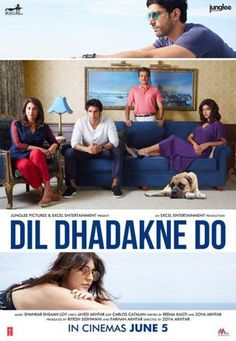 Dil Dhadakne Do -2015 Srsly the most entertaining Bollywood movie. an amazing, funny and just great movie overall Film Posters, Cinema Posters, Anushka Sharma, Priyanka Chopra, Movies Free, Great Movies, Bollywood Posters, Drama, Ranveer Singh