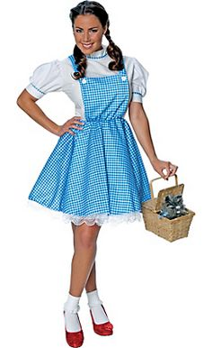Adult Dorothy Costume - Wizard of Oz  sc 1 st  Pinterest & Teen Girls Dorothy Costume - The Wizard of Oz | Halloween Costume ...