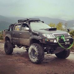 Toyota Hilux off-road - Today Pin Toyota Hilux, Toyota 4x4, Toyota Trucks, Toyota Tundra, Pickup Trucks, Lifted Tundra, Ford Trucks, Ford Gt, Audi Tt