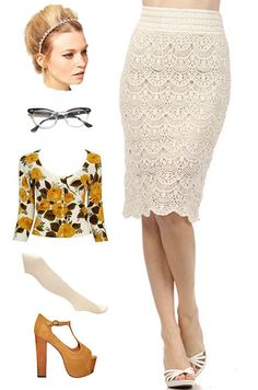 brand new! just listed at le bomb shop! find it here: http://www.ebay.com/itm/50s-Style-Rockabilly-Nice-Girl-IVORY-Crochet-LACE-Pinup-PENCIL-Skirt-/121053338420?pt=US_CSA_WC_Skirts=item61d0e23645