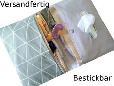 Wickeltaschen - Windeltasche bestickbar ♥versandfertig♥ - ein Designerstück von ds-handmade bei DaWanda