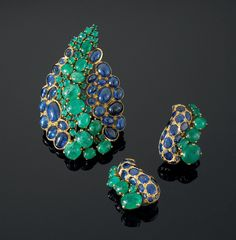 Earrings emeralds Suzanne Belperron