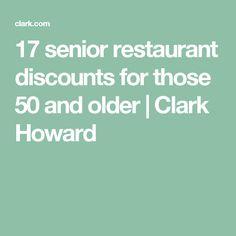 17 senior restaurant discounts for those 50 and older | Clark Howard