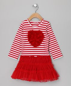 Take a look at this Love Stripe Dress - Infant & Toddler on zulily today!